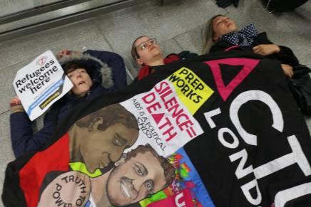 St Pancras 'die-in' video report