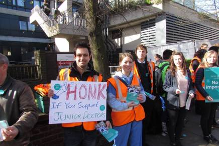 Biggest picket lines yet as junior doctors' strike action escalates