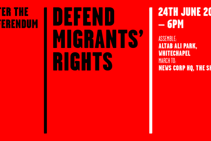 Demonstrate in London TODAY against racism and in solidarity with migrants