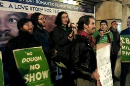 Video report: Cinema workers strike for Living Wage