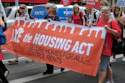 Housing and women's protests join forces against May