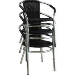 Stackable Restaurant Chairs Ergonomic Chair Recommendation Letter Aluminum Outdoor Wicker 002stkq Rsa