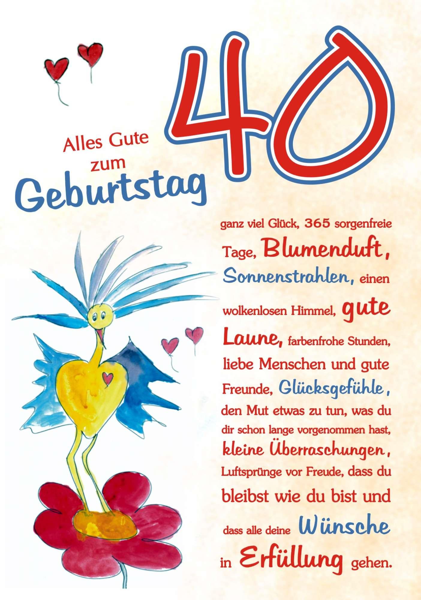 40 Geburtstag  RSC Karten