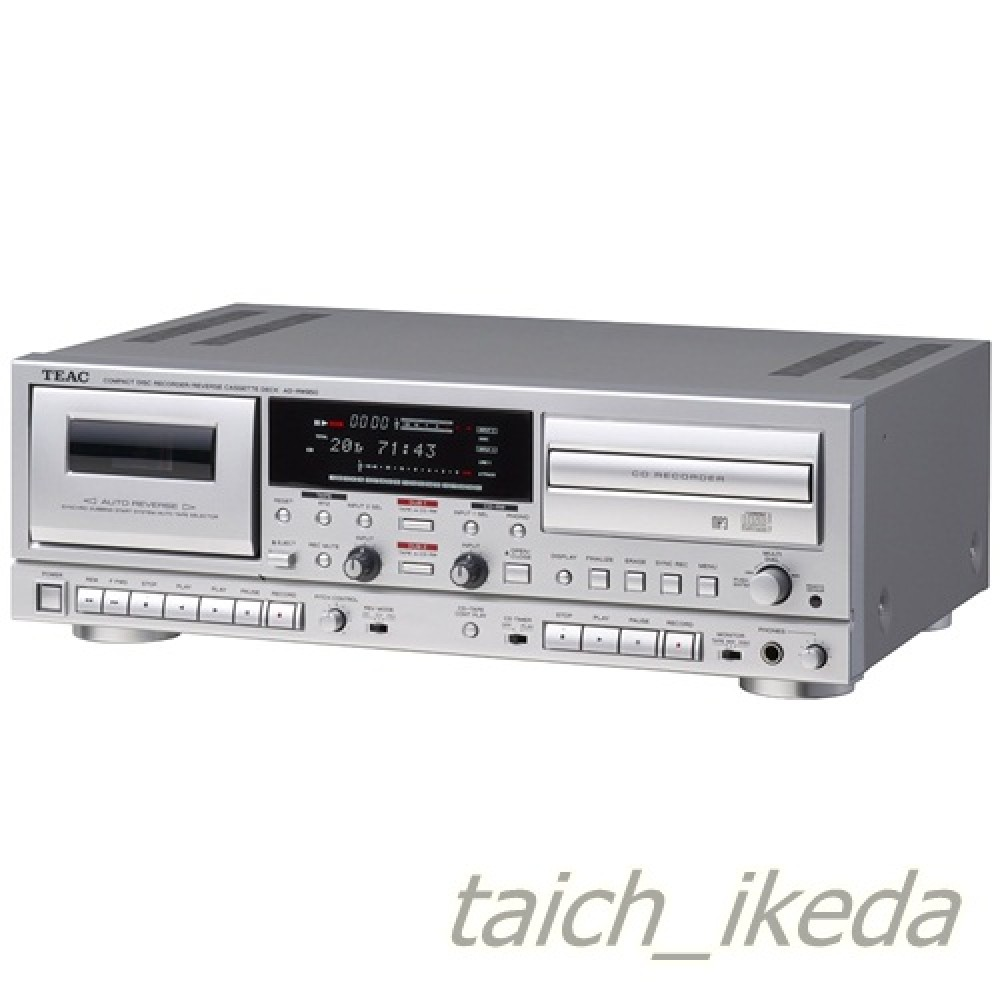 Teac Cd Recorder  Cassette Deck Silver Adrw950s From