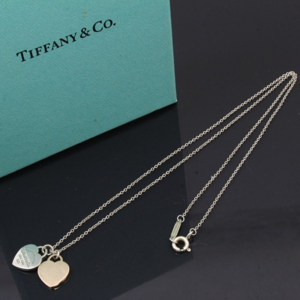 U4632 Authentic Tiffany & . Necklace Rubedo Silver 925