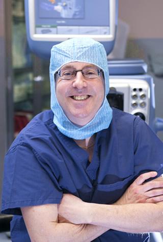 Dr. Scharfman in the eye lab