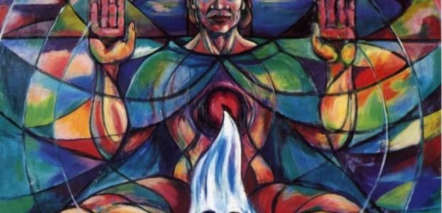 Painting of the Cosmic Christ by Sr Annett Hanrahan