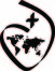 black version of the logo of the Society of the Sacred Heart