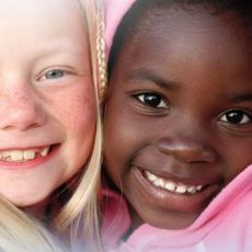 children of mixed cultures sharing smile