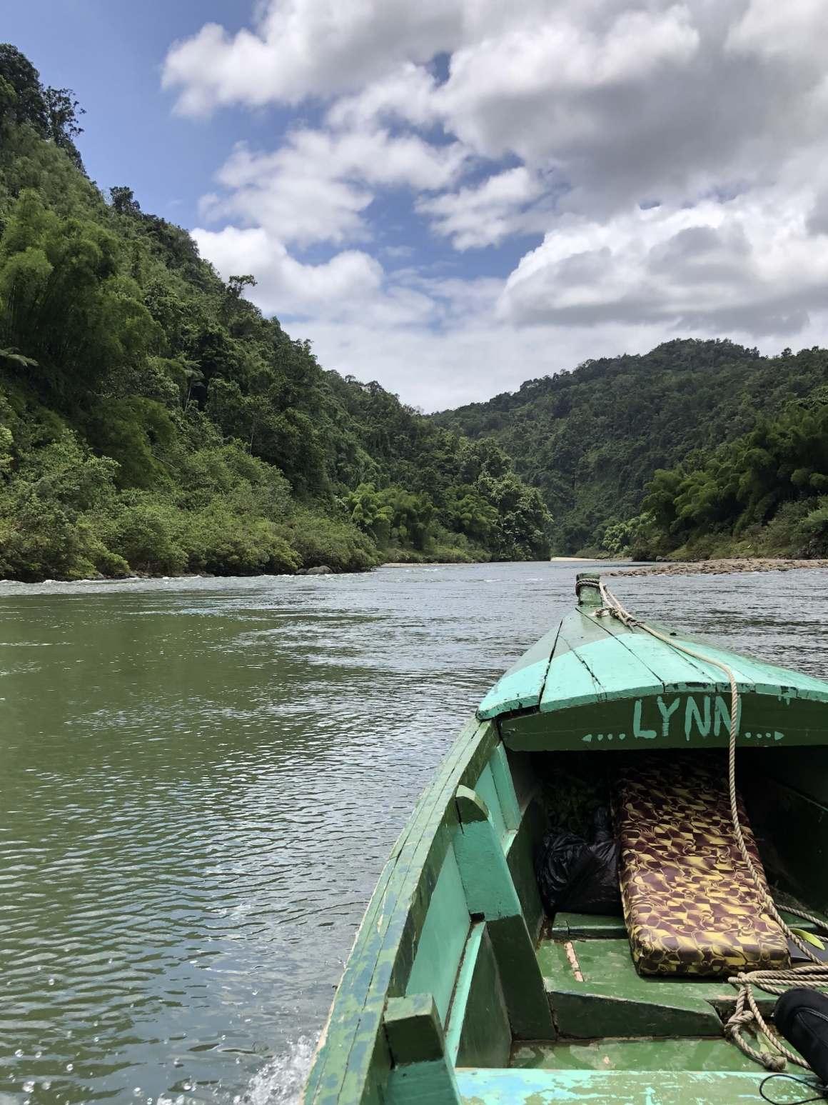 Longboat on the Navua River