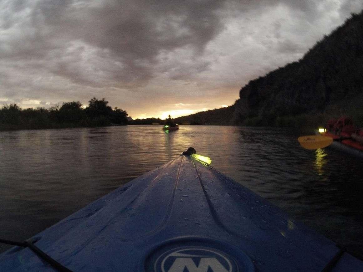 salt river moonlight kayaking