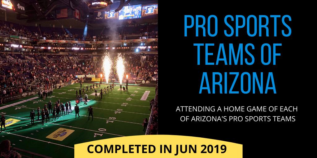 Pro Sports teams of Arizona