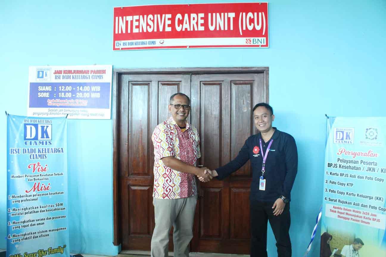 Pembukaan Unit ICU oleh Direktur PT RS Dadi Keluarga Ciamis dan Direktur Utama RSU Dadi Keluarga Ciamis