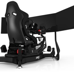 Flight Simulator Chair Motion Office Chairs White Leather Rs1 M4a Black