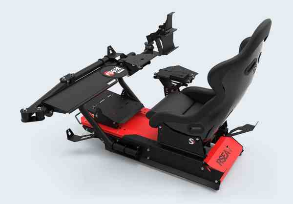 rseat s1 black red upgrades shifter handbrake 03