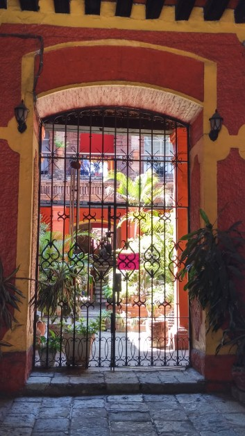 Typical Oaxacan courtyard