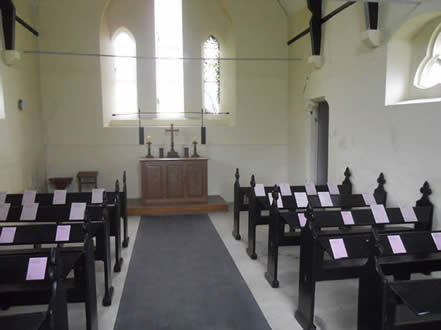 Binstead Cemetery Chapel interior