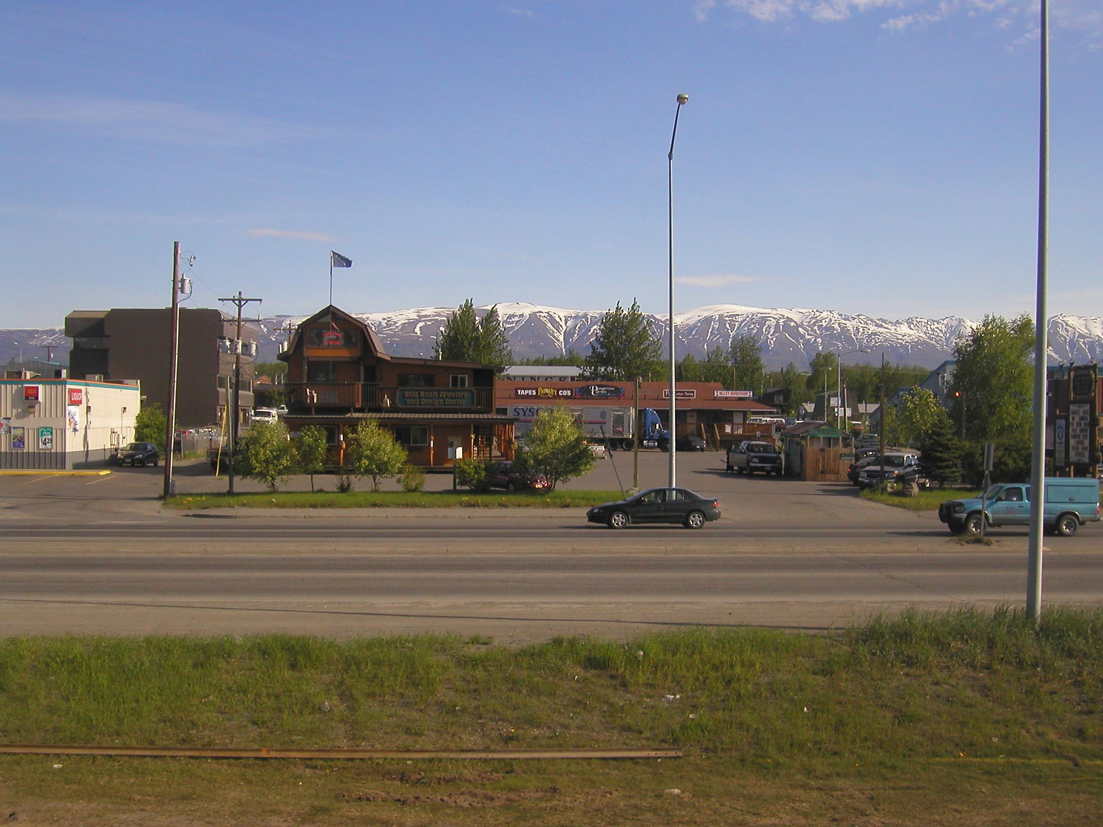 Strip Mall, Wasilla, Alaska (and Sysco truck)