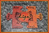 Previous crafty make by Rose-Sky Journey Pieces - custom designed jigsaw pieces. 'For every step of the journey.' Design and image copyright of Rose-Sky Journey Pieces, 2016.