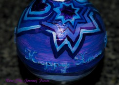 Hand-painted Christmas bauble. Designed by Bespoke Fantasy Costumes. Painted and photographed by Rose-Sky Journey Pieces. 2016.