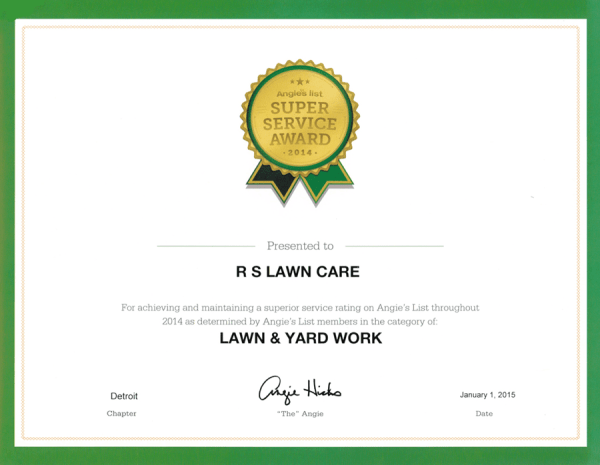 awards - rs lawn care & landscapingrs