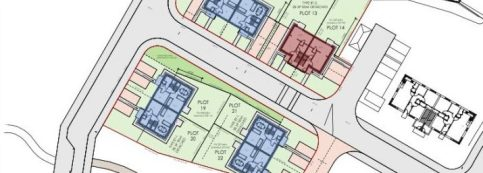 Cut out of site layout for R S McLeod Limited's Dulich Court Phase 2