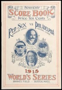 1915 World Series program