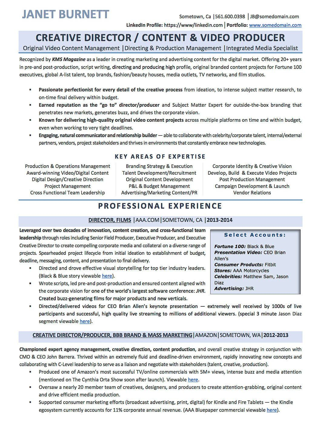 Creative Director Resume Sample Resume Examples Cv Sample Resume Templates Rso Resumes