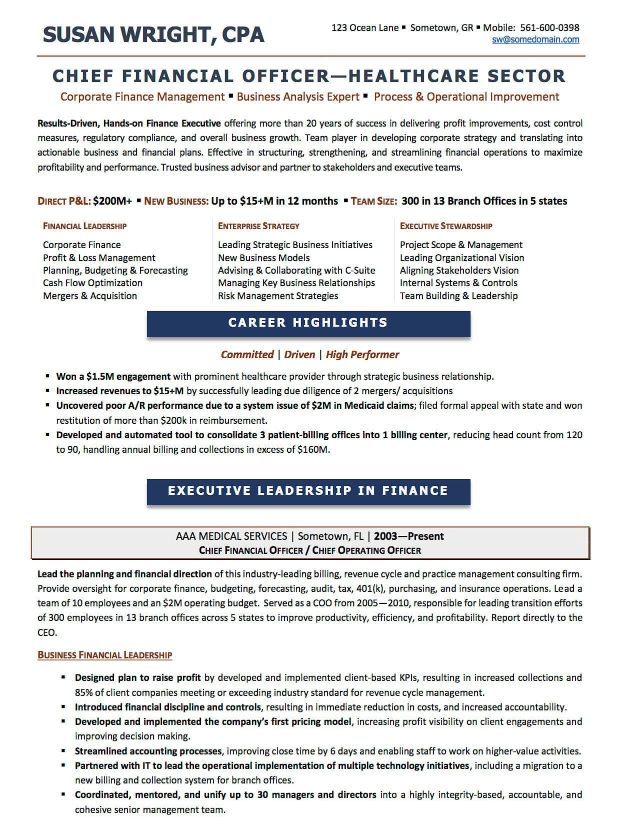 Best Executive Resume Format Resume Examples Cv Sample Resume Templates Rso Resumes