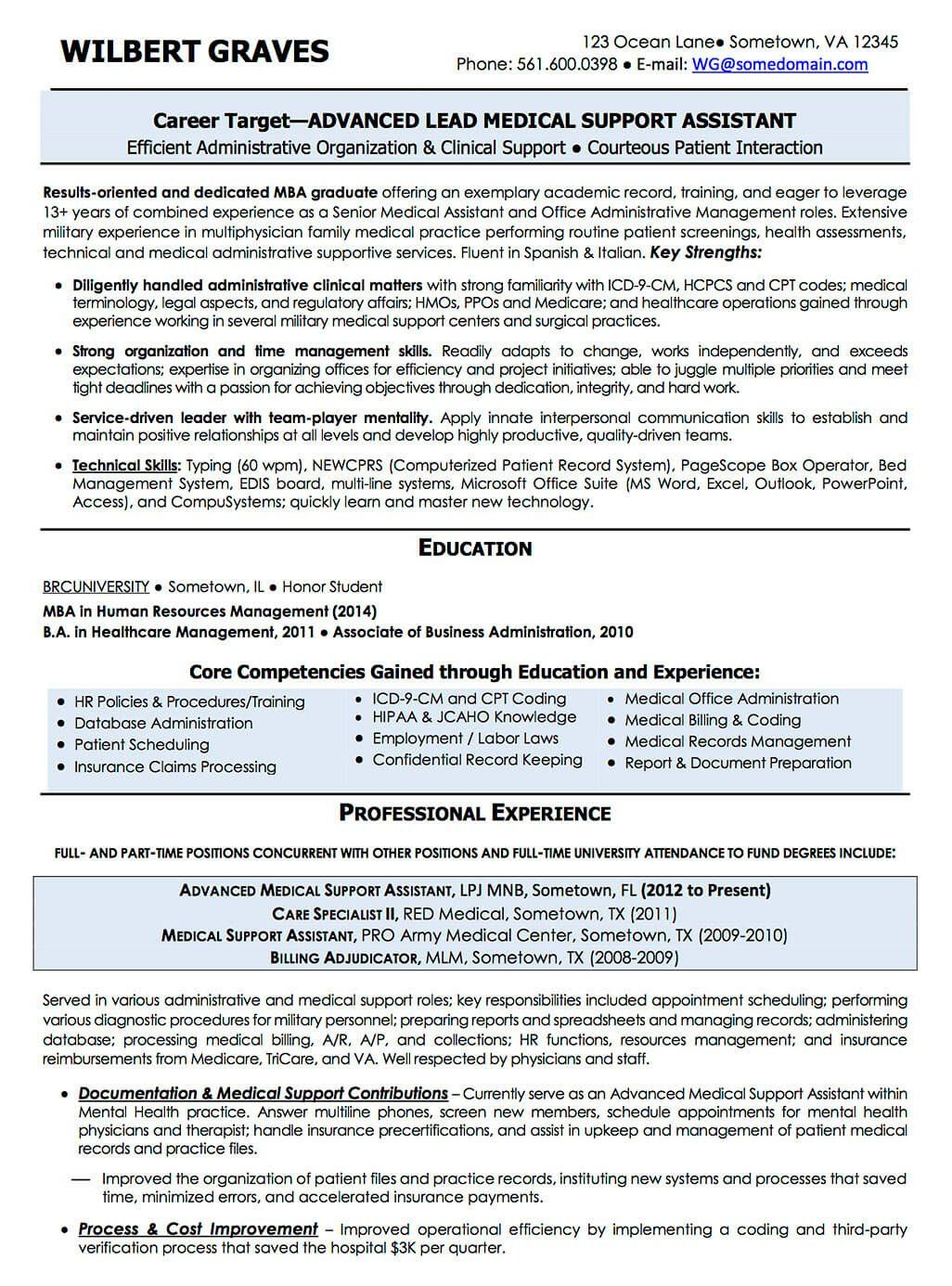 Resume Examples CV Sample Resume Templates RSO Resumes