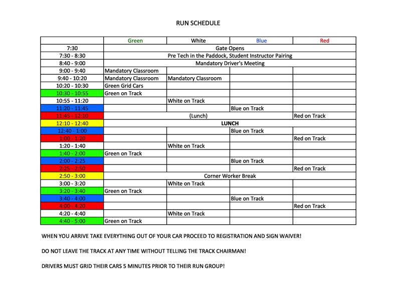 RSR Driver Education Timeline