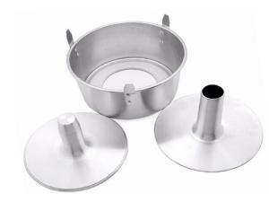 Forma de Bolo - Alumínio (Chiffon c/ Contra cone - 3 peças)