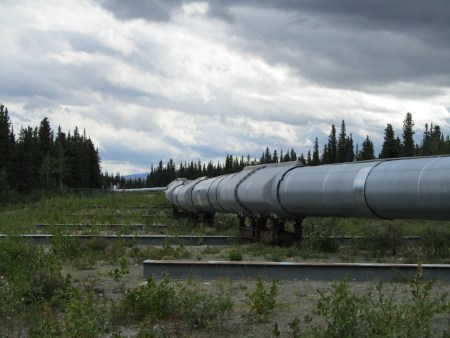 Above-ground crossing of the Denali Fault Trans Alaska Pipeline System