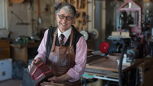 Bob Tedrow builds concertinas for people to 'take care of and treasure'