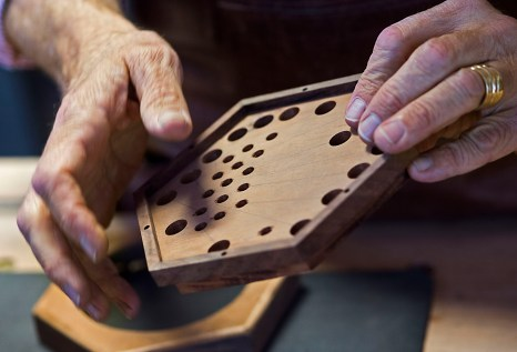 It took years for Bob Tedrow to make his first working concertina, but now he has built about 100 of them. (Bernard Troncale)