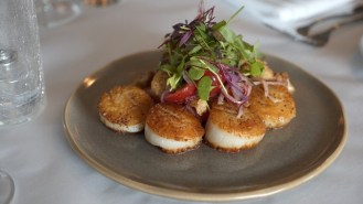 The Seared Jumbo Scallops at Fisher's Upstairs at Orange Beach is one of 100 Dishes to Eat in Alabama Before You Die. (Chad Allen / Alabama NewsCenter)