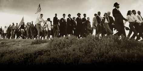 Marchers take part in the Selma to Montgomery March in 1965. (contributed)