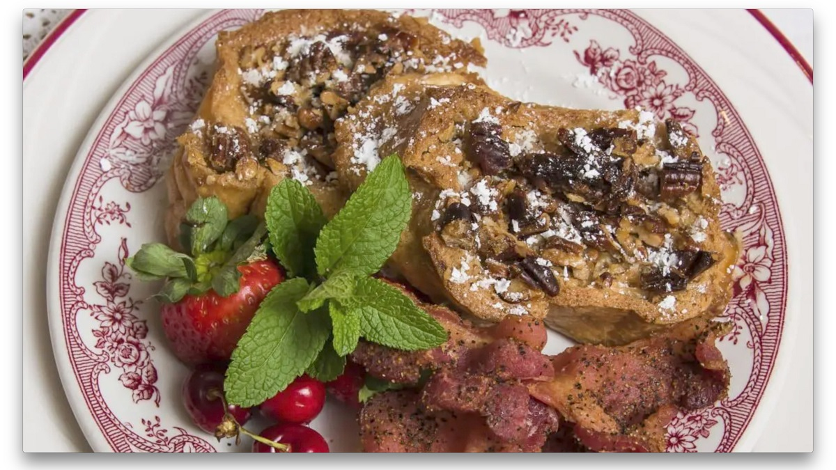 Pecan Praline French Toast at this bed and breakfast is one of 100 Dishes to Eat in Alabama