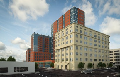 Long-term plans call for a residential tower on the property adjacent to a restored Masonic Temple. (contributed)