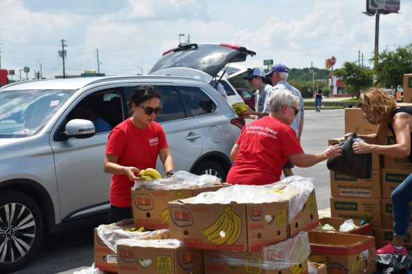 Mobile Division APSO partnered with Feeding the Gulf Coast to assist families displaced by Hurricane Ida from Mississippi and Louisiana who were temporarily staying in the Mobile area. (contributed)