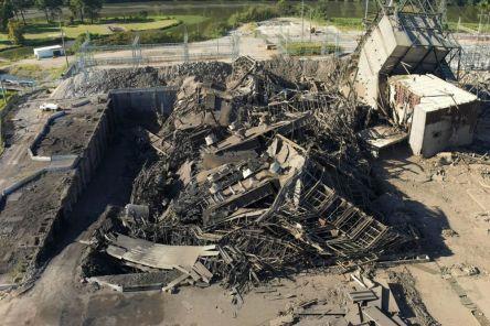 After the demolition. (Alabama NewsCenter)