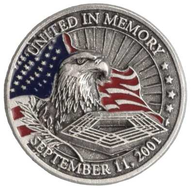 A commemorative coin honors those killed at the Pentagon on 9/11, (contributed)