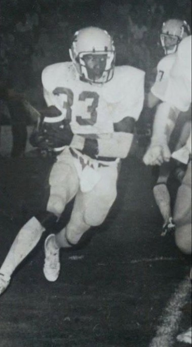 Dwayne Williams runs the ball for the University of North Alabama in the mid 1980s. (contributed)