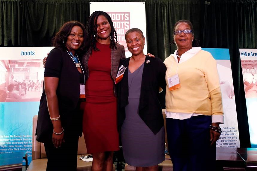 Marsha Morgan, left, at the 2016 Community Investment Conference in Atlanta. (contributed)