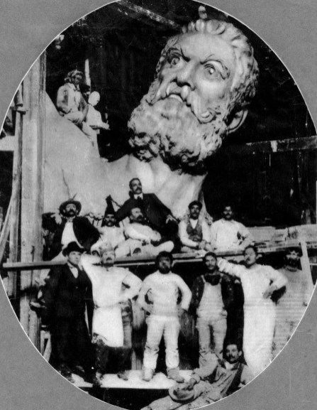 Workers pose with Vulcan in the early 1900s. The Historic Red Ore Express walking tour isn't just about historic sites. It's about the people who worked or spent time there. Oral history is blended into the narration. (contributed)
