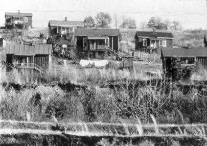 Miner housing in Birmingham. (Karen Utz)