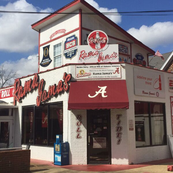 It's an easy walk to Rama Jama's from Bryant-Denny Stadium, but you may have to be carried out if you try the BLT, which has a slice of bacon for every Crimson Tide football championship. (Rama Jama's/Facebook)