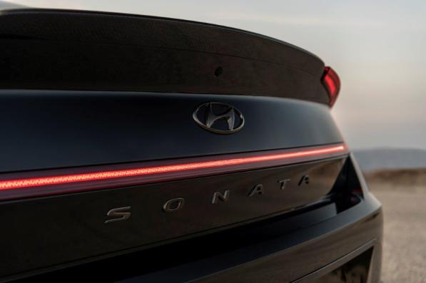 The Sonata N Line Night Edition has a number of features that make it a special limited edition. (Hyundai)