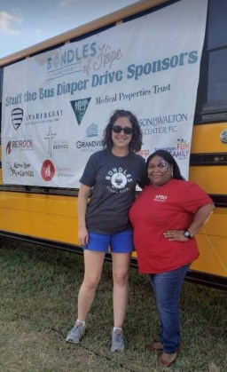 The Magic City Chapter of the Alabama Power Service Organization (APSO) helped collect items and donations for Bundles of Hope's seventh annual Stuff the Bus drive. (contributed)