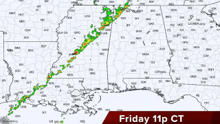 James Spann: Cold front arrives in Alabama late Friday night